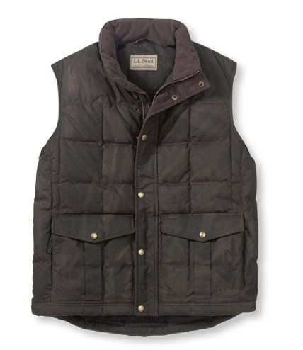 Waxed Cotton Down Vest Outerwear Free Shipping At L L