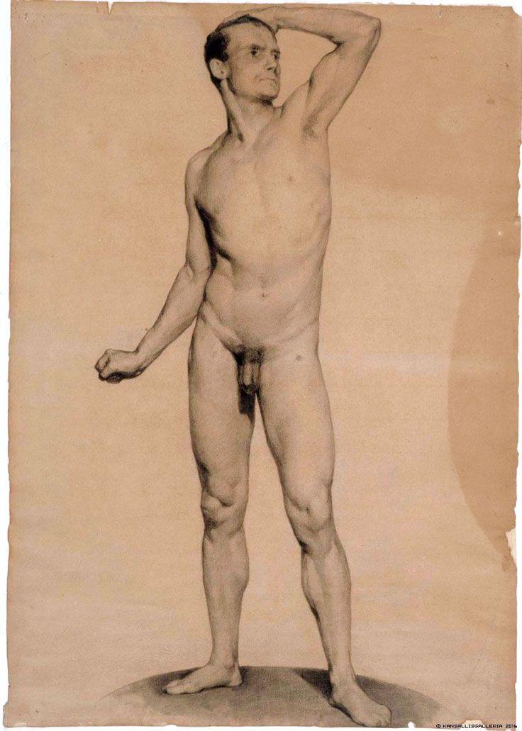 Albert Edelfelt  Nude Male Model, Academy Study, 1975 -2613