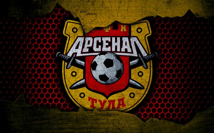 Download Wallpapers Arsenal Tula, 4k, Logo, Russian