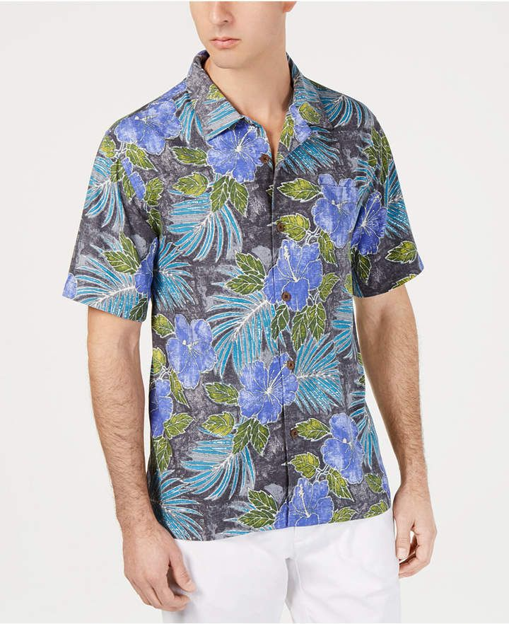 5bb1a62b Men's Hibiscus Cove Hawaiian Silk Camp Shirt in 2019 | Cruise ...
