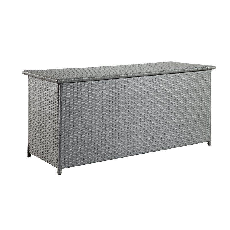 Sol 72 Outdoor Dorian 134 Gallon Wicker Deck Box Reviews Wayfair Wicker Deck Box Patio Storage Outdoor Storage Bench