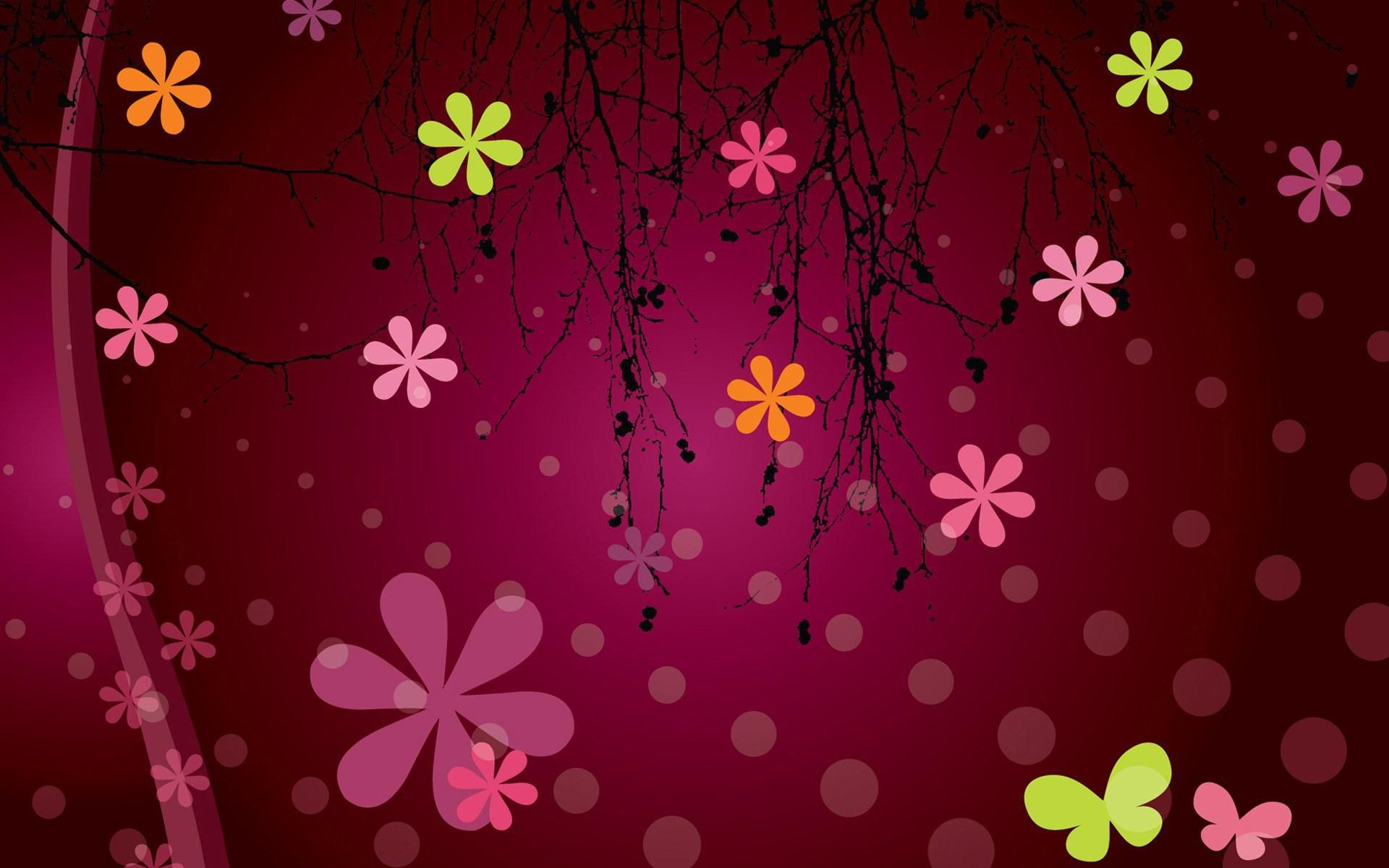 Girly Wallpaper Girly Abstract Other Hd Art Flower Background Images Vector Flowers Screen Savers Wallpapers