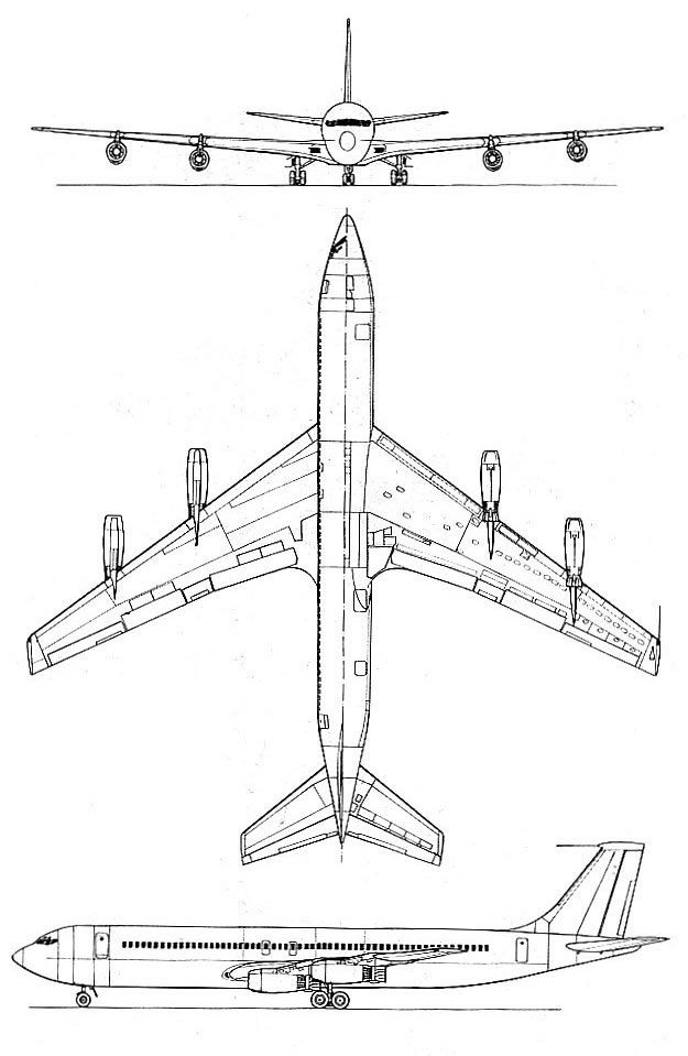 Boeing 707 schematic military and commercial aircraft boeing 707 schematic cheapraybanclubmaster Choice Image