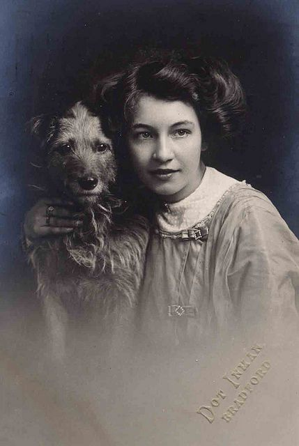 :::::::::: Vintage Photograph ::::::::::  Doggie and her owner