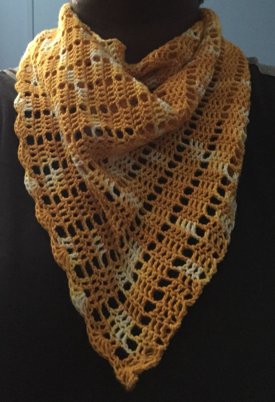 Shawl (Shawlette) in Gold hand-dyed yarn CLEARANCE SALE!! Save 25 ...