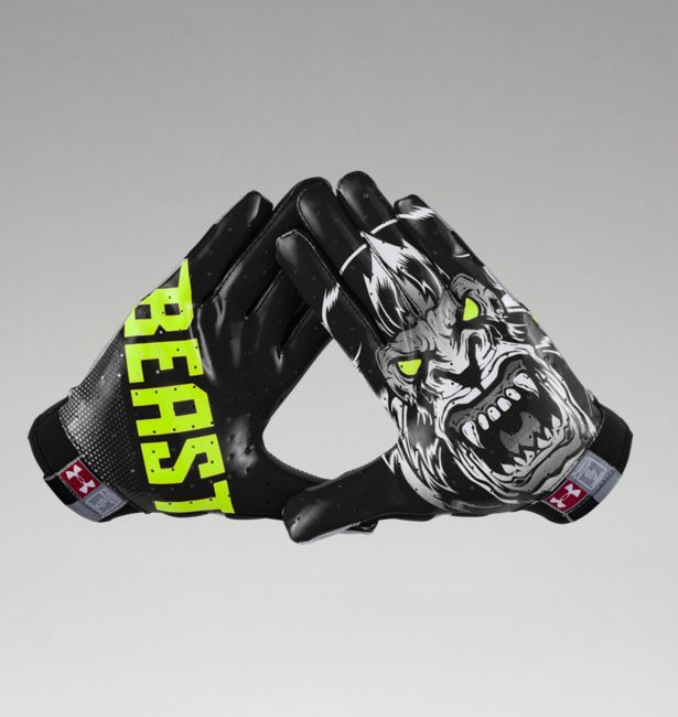 men s under armour alter ego beast f4 football gloves football am ricain football et gant. Black Bedroom Furniture Sets. Home Design Ideas