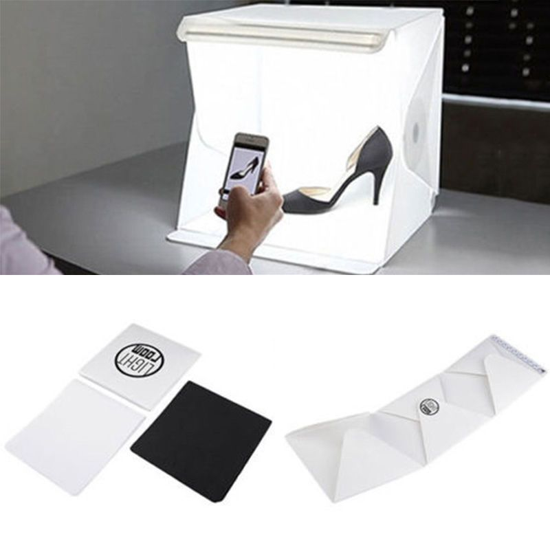 Portable Studio Photography Light Room Lighting Tent Kit Backdrop