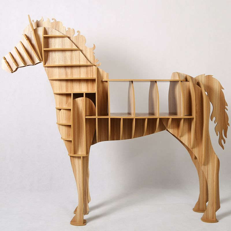 8 Colors Horse Table Animal Furniture Diy Creative Wood Crafts Bookshelf For Household Clubs
