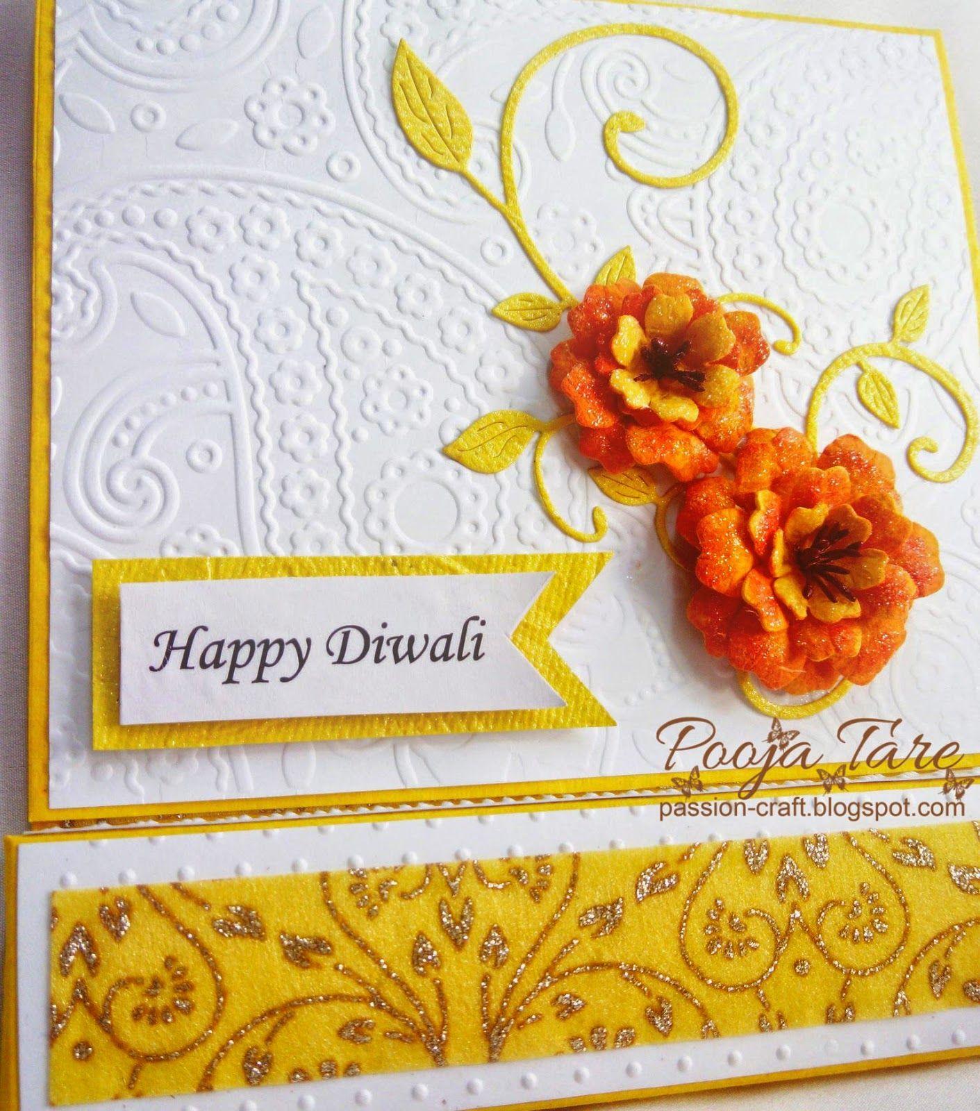 diwali card tea light candle card flowers handmade by joy craft