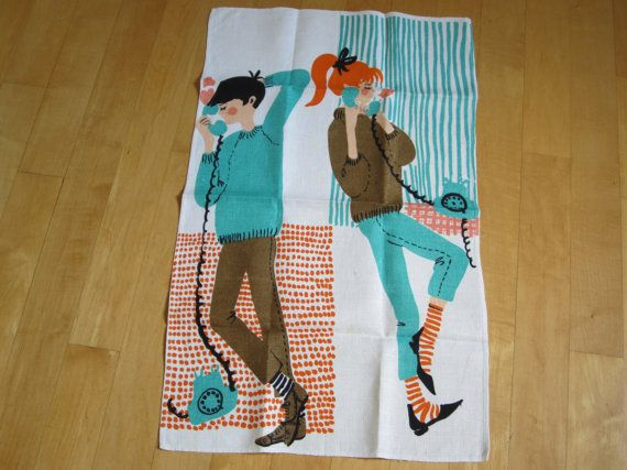 SOLD/RESERVED for JUDI Vintage Towel Teenagers by NeatoKeen, $42.00