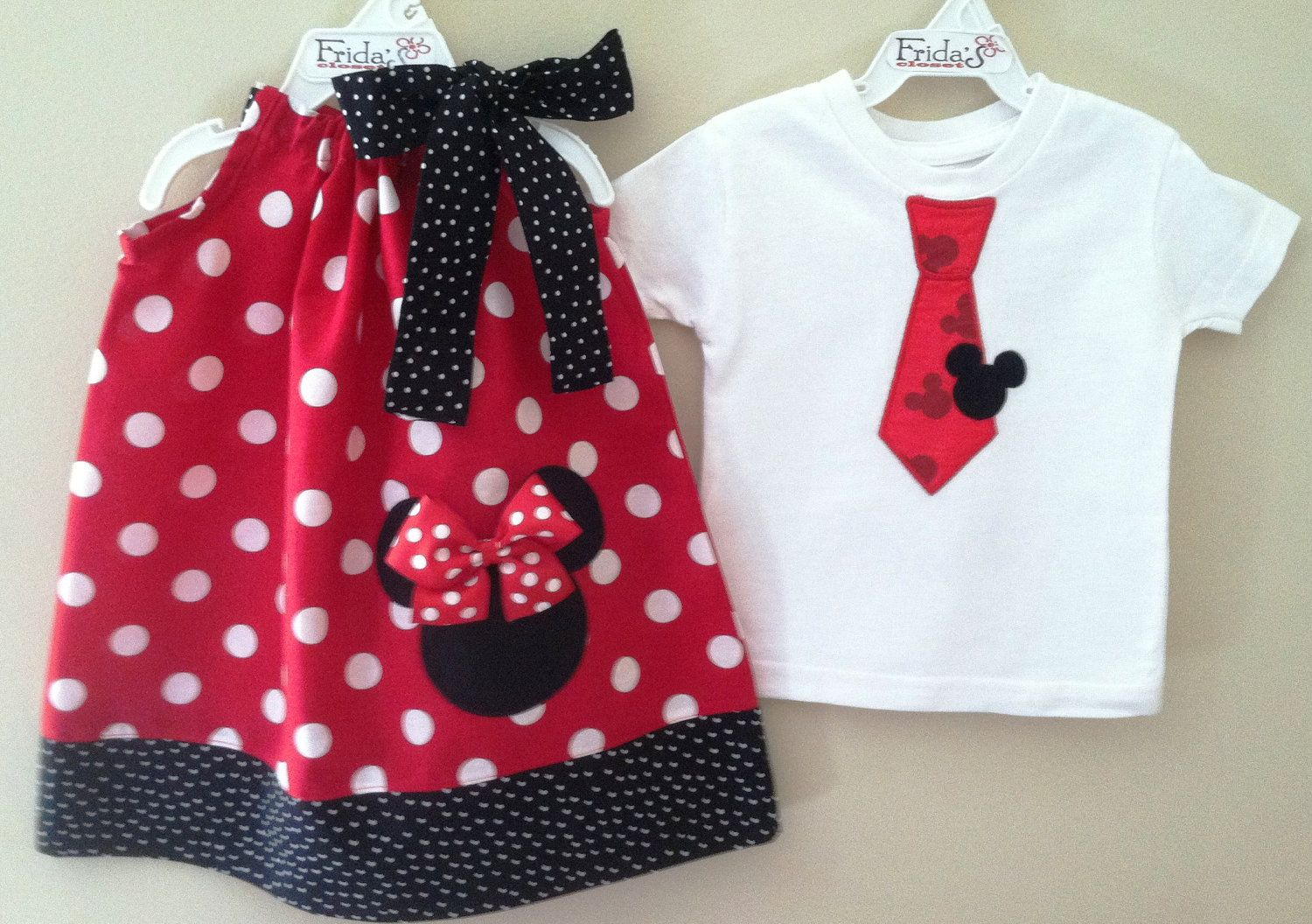 Brother And Sister Minnie & Mickey Mouse Pillowcase Dress