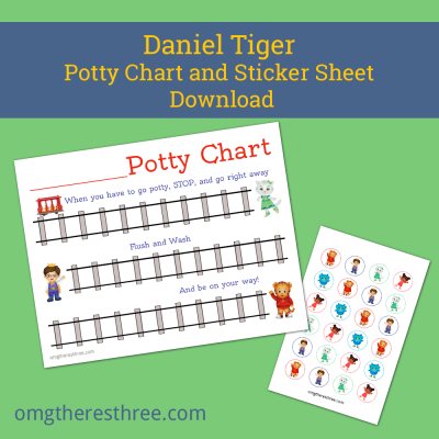 Daniel Tiger Potty Chart Omg There S Three Potty Chart Potty Training Sticker Chart Daniel Tiger