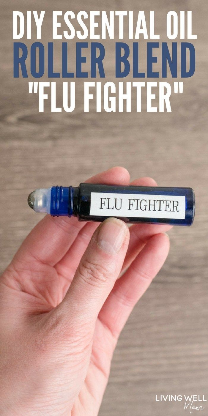DIY Essential Oil Roller Blend Flu Fighter  This triedandtrue essential oil roller blend is packed with essential oils that have antiviral properties and more helpful ben...