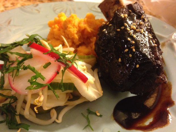 Picture of Hoisin Glazed Short Ribs with Asian Pickled Veg