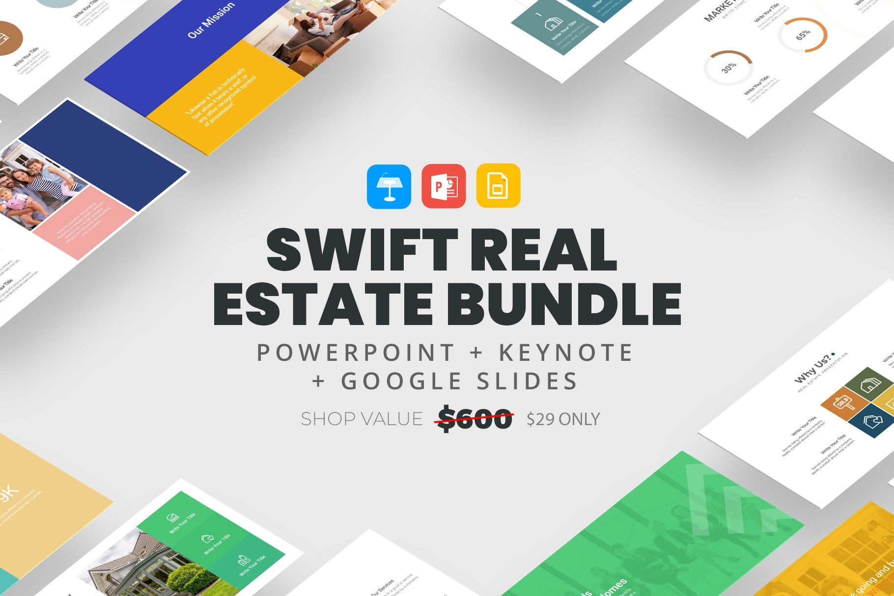 SWIFT Real Estate Bundle by slidequest on Creative Market