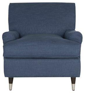 Kensie Club Chair, Navy