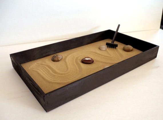 Zen Garden Zen Box Brown Home Decor Coffee Table by