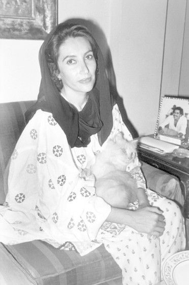 Benazir Bhutto. The first Pakistani woman elected to the office of Prime Minister dedicated to human rights, peace, and change for her country but was assassinated in 2007.