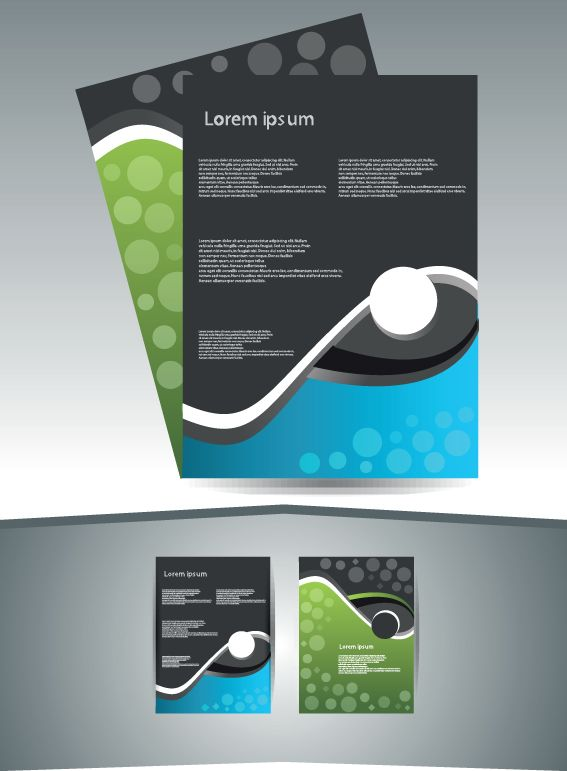 Abstract Business flyer cover template vector 05 adverts - free pamphlet