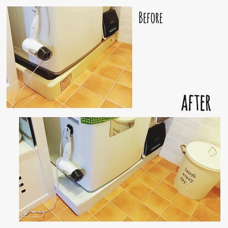 洗濯機の防水パンカバーを作ろう 防水パン インテリア 収納 バスルーム 収納 アイデア