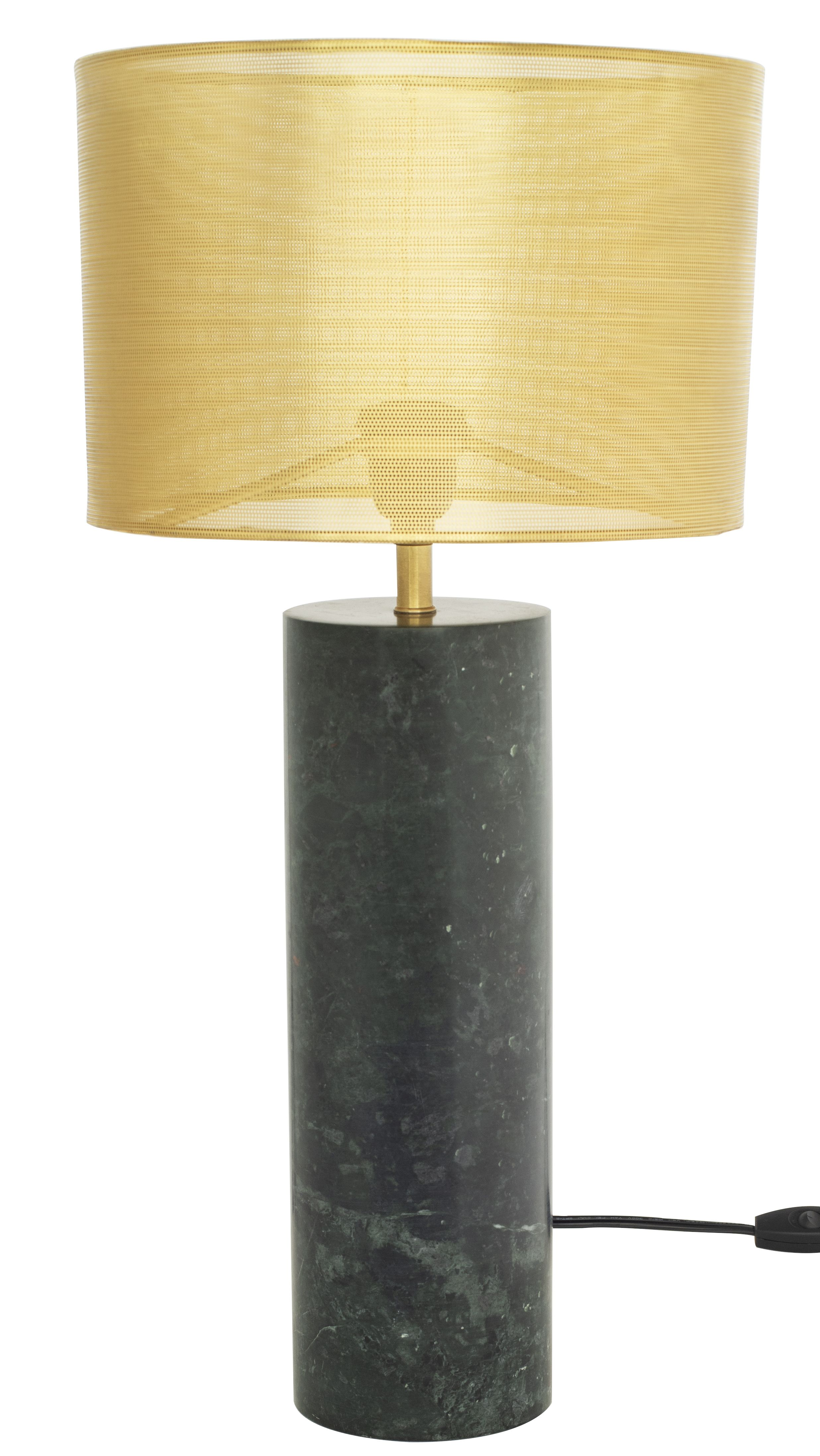 Green Marble Defines The Cyrine Table Light A Bold Minimalist Cylindrical Base Supporting A Black Fabric Rectangular Shade P Table Lamp Lamp Table Lamp Sets