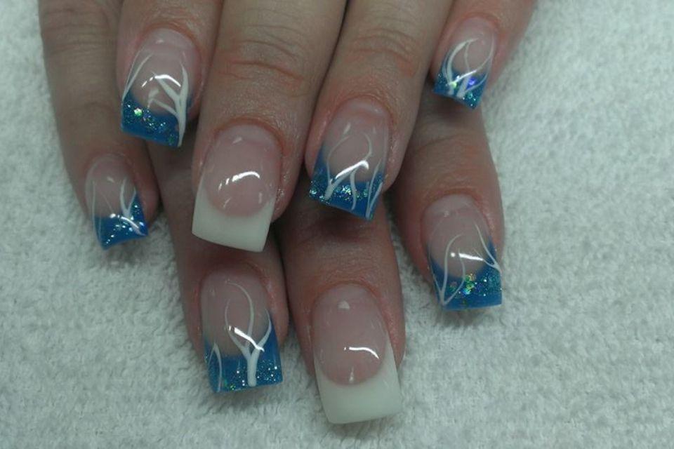 Acrylic nails by Brooke Vacation nails, Nails, Glitter gel