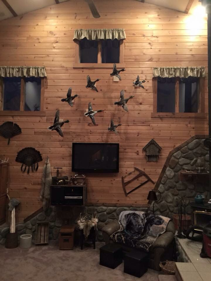 Ducks Hunting Man Cave Hunting Decor Living Room Hunting Room
