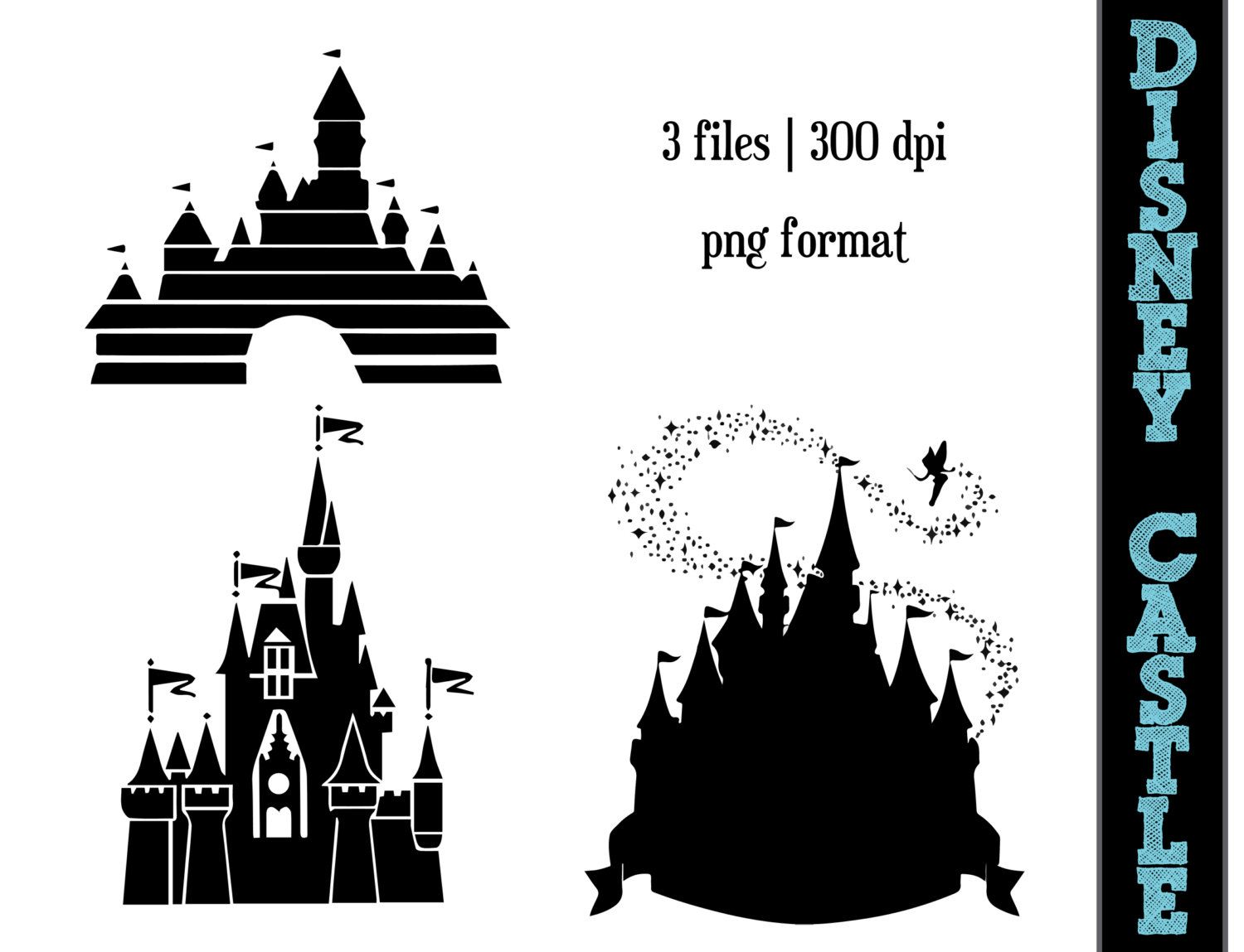 Disney Princess Castle Silhouettes  by SparkYourCreativity
