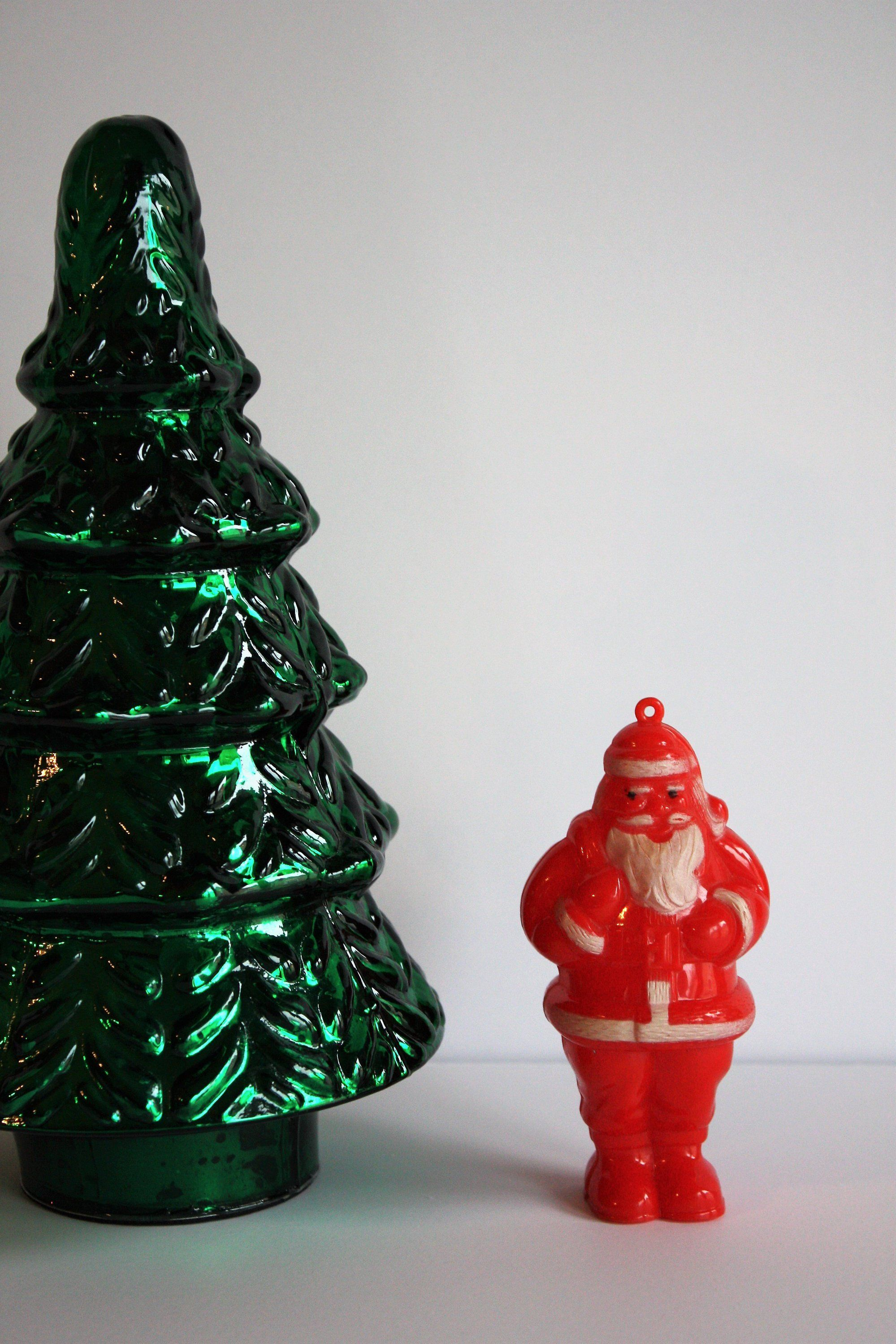 Vintage Celluloid Santa Ornament Candy Container by