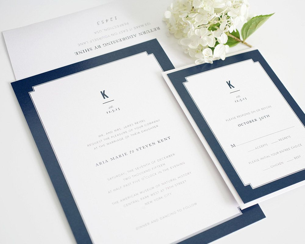 You can download Navy Blue And White Wedding Invitations wallpaper ...