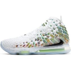 LeBron 17 Basketballschuh – Weiß Nike