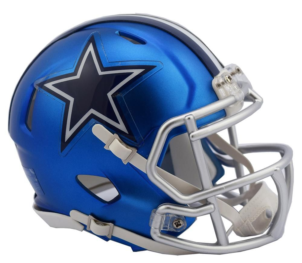 Dallas Cowboys Helmet Riddell Replica Mini Speed Style Blaze ...