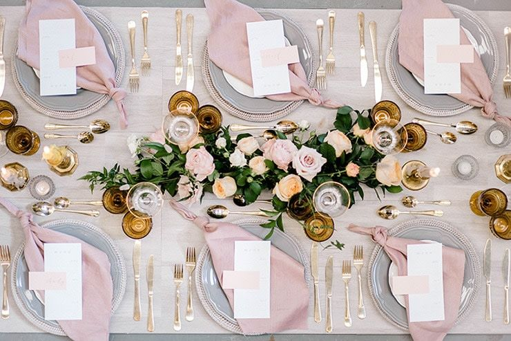 Supplier We Love Storybook Co Rose Gold Table Setting