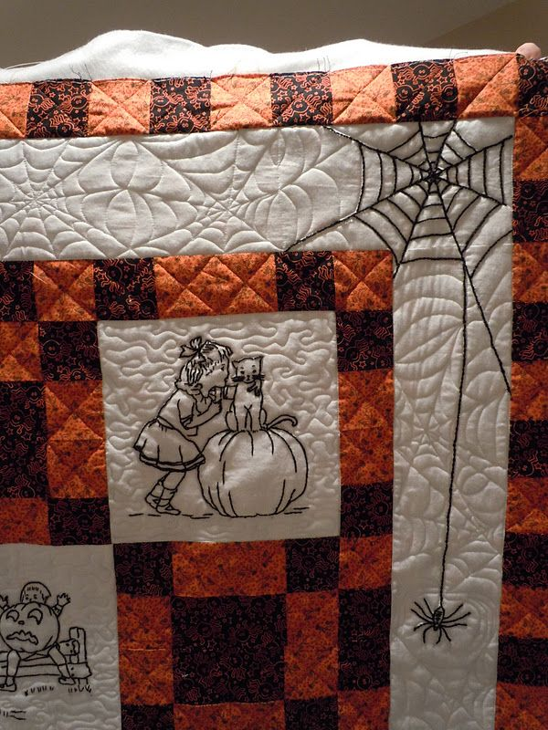3 favourite things - quilting, embroidery and Hallowe'en ...