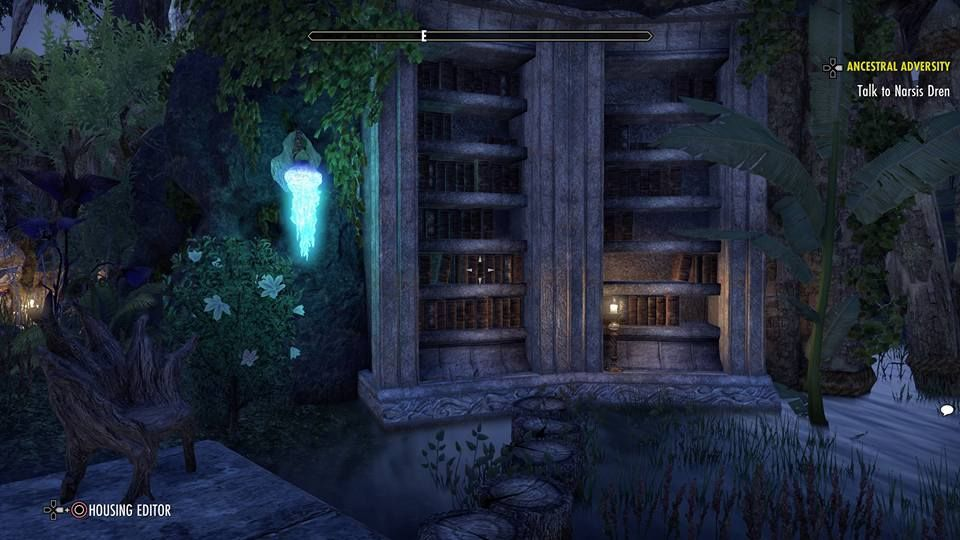 ESO Fashion | Ayleid library and peacefull yard [PS4] (Elder