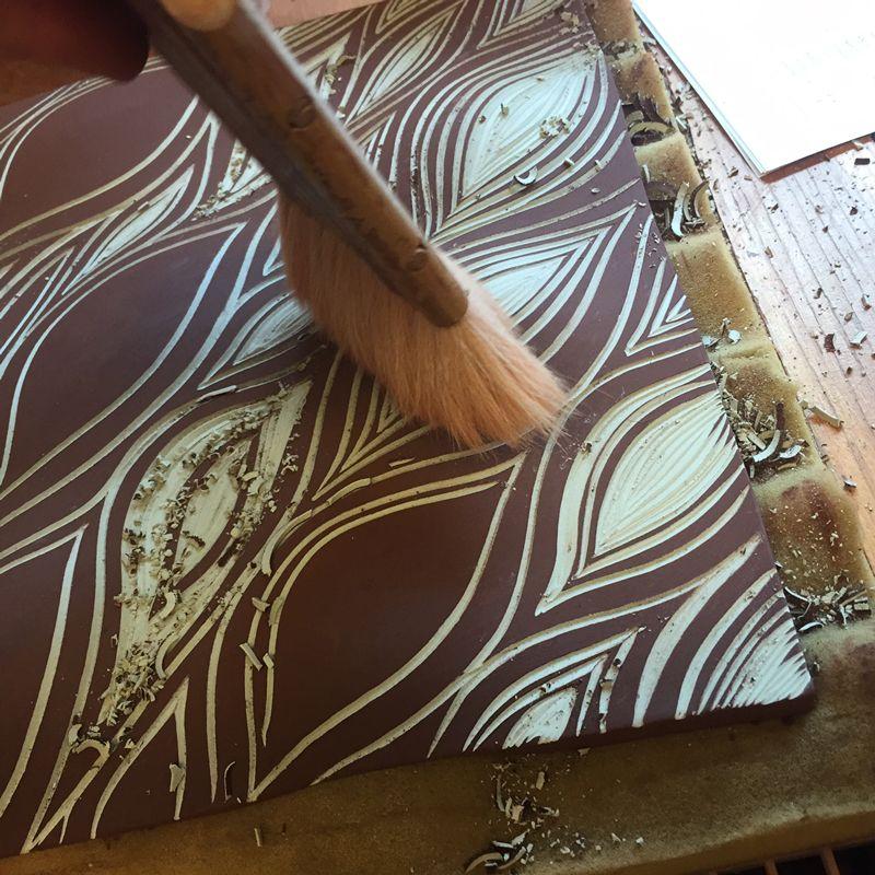Carving Handmade Porcelain Tiles At Natalie Blake Studios In Vermont