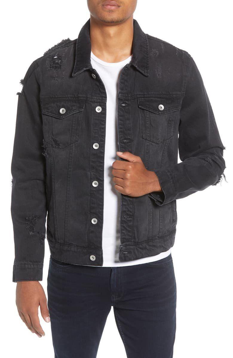 Topman Ripped Western Denim Jacket Nordstrom Denim Jacket Edgy Jeans Jackets [ 1196 x 780 Pixel ]