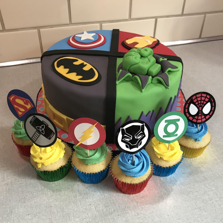 Superhero Cake Iron Man Cake Batman Cake Hulk Cake Captain America Cake Avengers Justice League Superhero C Ironman Cake Hulk Cakes Captain America Cake