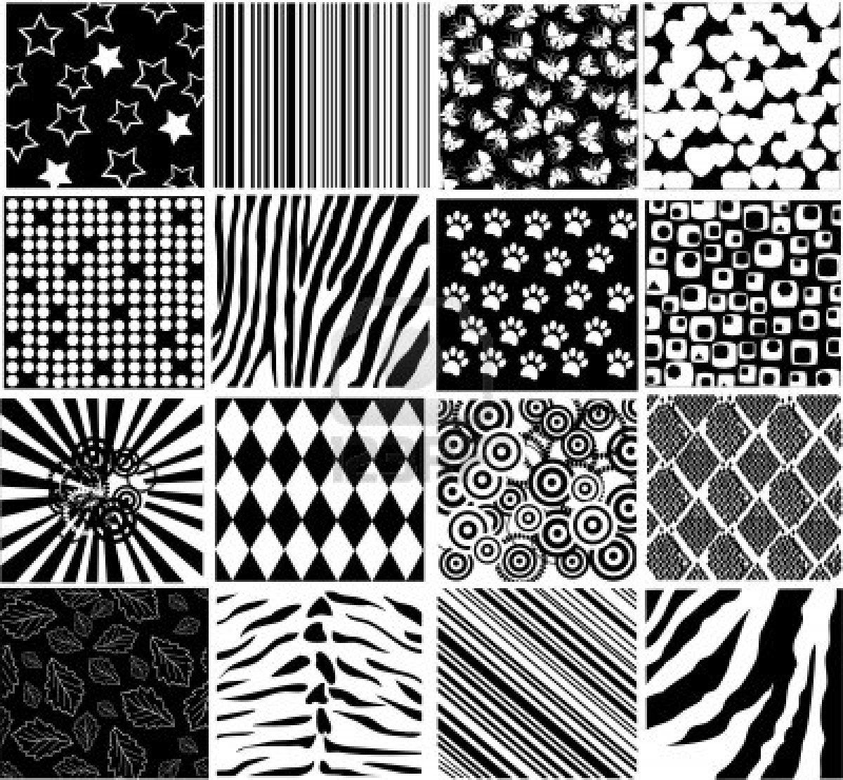 Simple Free Black And White Damask Vector Pattern Backgrounds