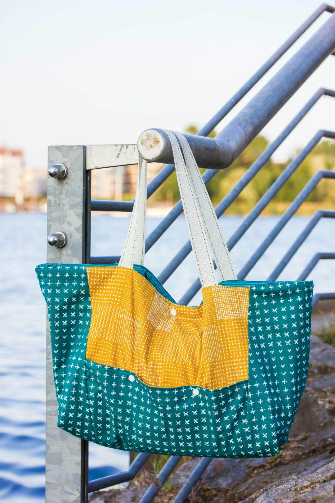 freebook friday strandtasche biene inkl schnittmuster. Black Bedroom Furniture Sets. Home Design Ideas