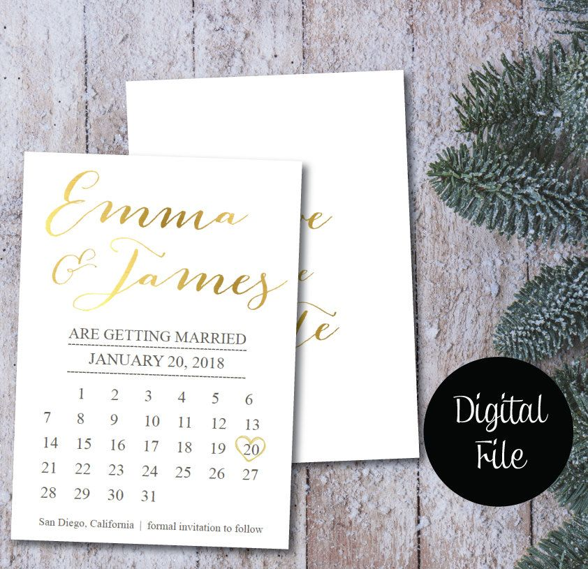 Save The Date Calendar TemplateSave The Date Postcard Printable - Save the date calendar template