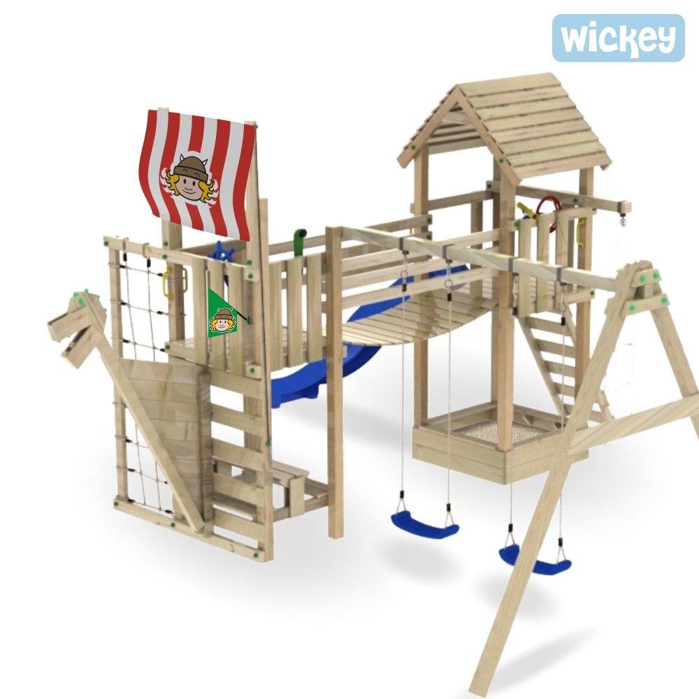 Kletterturm Wave Catcher Holzkletterturm Aus Die Wickey Kollektie Spielplatz Design Kletterturm Kinderspielplatz