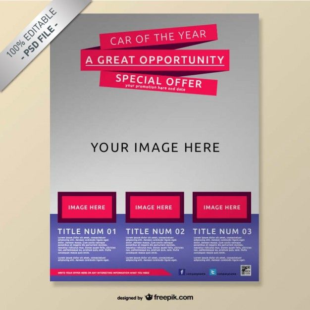 Realistic free brochure mock-up poster Mock-up Pinterest - free poster template word