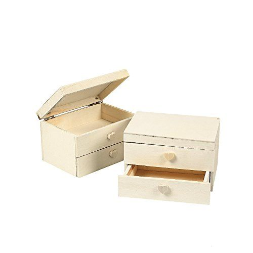 Unfinished wood jewelry box 1 dz discount universe coupon these do it yourself wood craft jewelry boxes are twice the fun paint them with your favorite designs and colors and then use them to store all your solutioingenieria Image collections