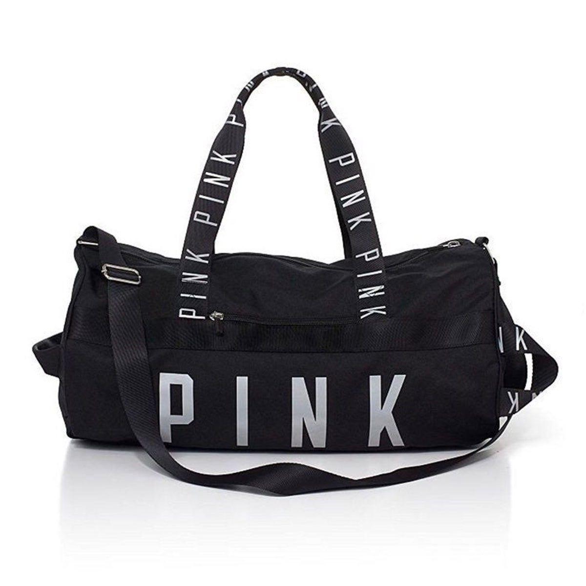 Tote Bag FREE Lanyard! NEW Victoria/'s Secret =PINK= Duffle Beach Weekender