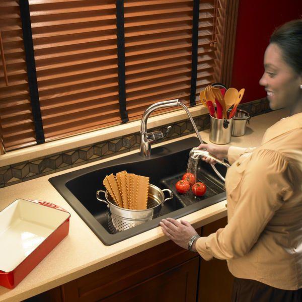 Granite Kitchen Sink Via Swanstone Com Kitchen Sink Design Sink Design Kitchen Sink