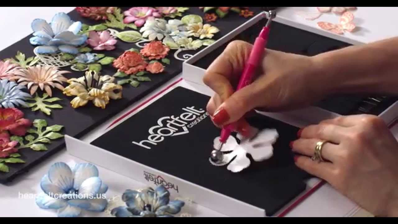 Diy Tutorial How To Create Paper Flowers Deluxe Flower Shaping