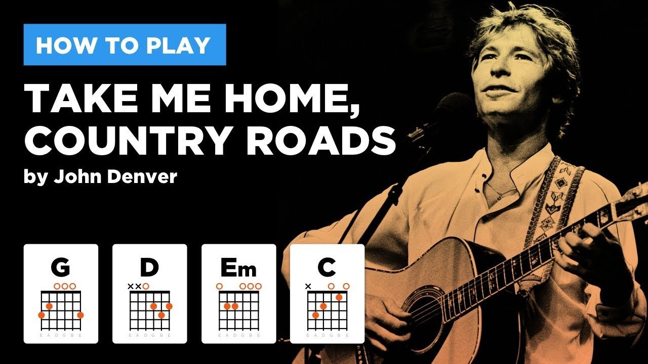 Take Me Home Country Roads Easy Guitar Lesson W Chords John Denver Youtube Easy Guitar Songs Acoustic Guitar Lessons Guitar Lessons