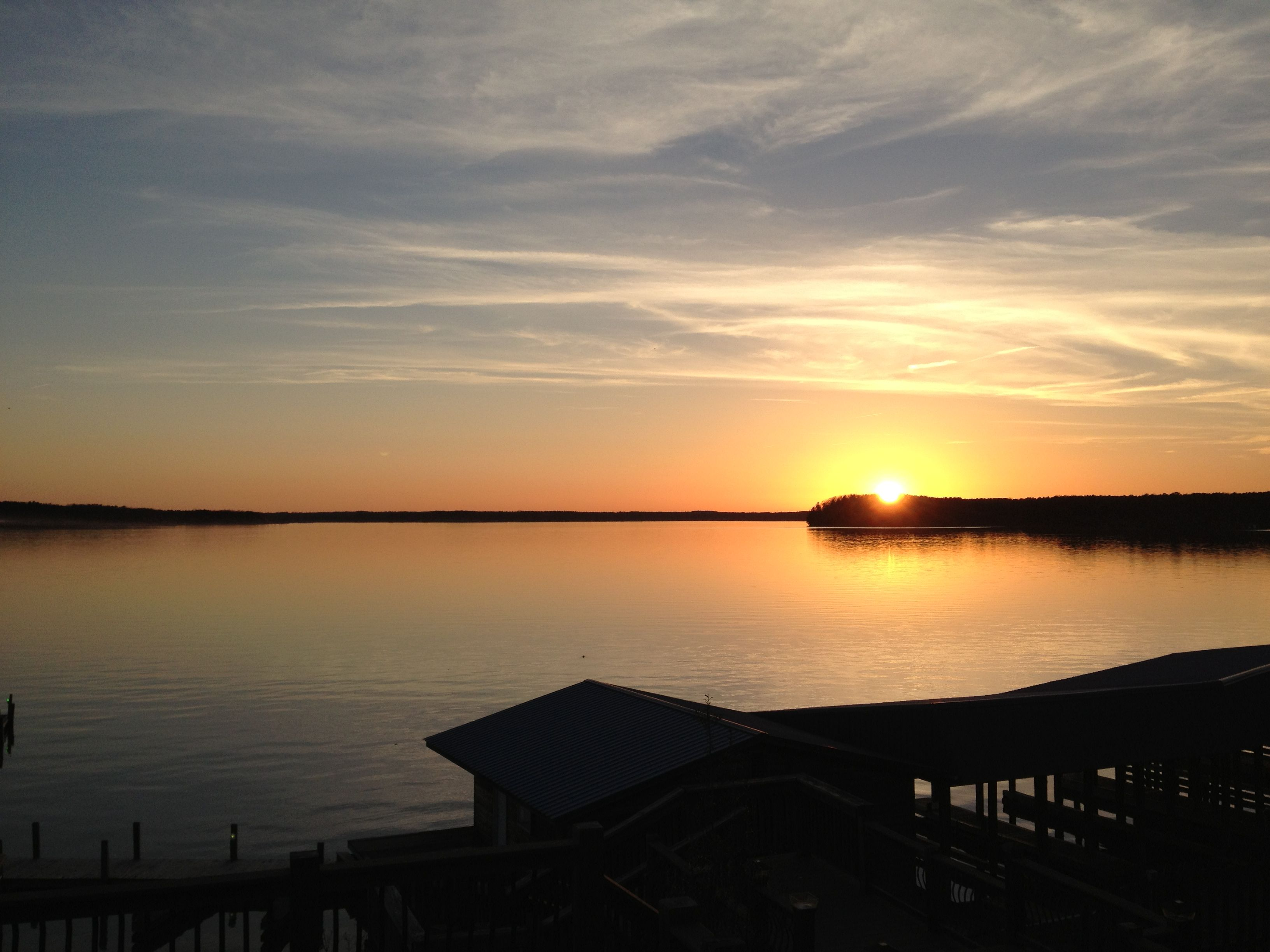 Beautiful lake gaston in virginia and north carolina