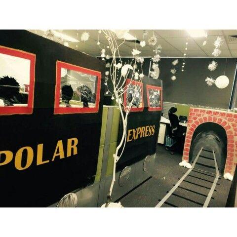 Office Decorations Polar Express #polarexpress #officedecorations